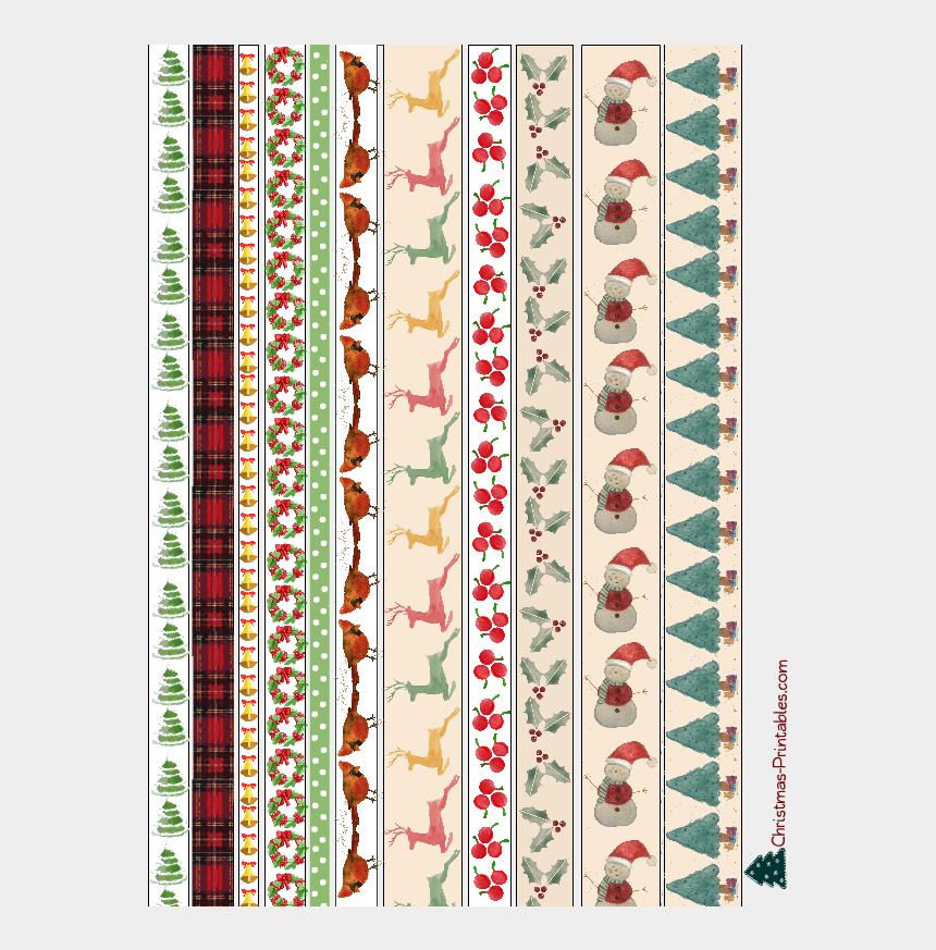 christmas envelope clipart, Cartoons - Free Printable Christmas Washi Tapes - Floral Design