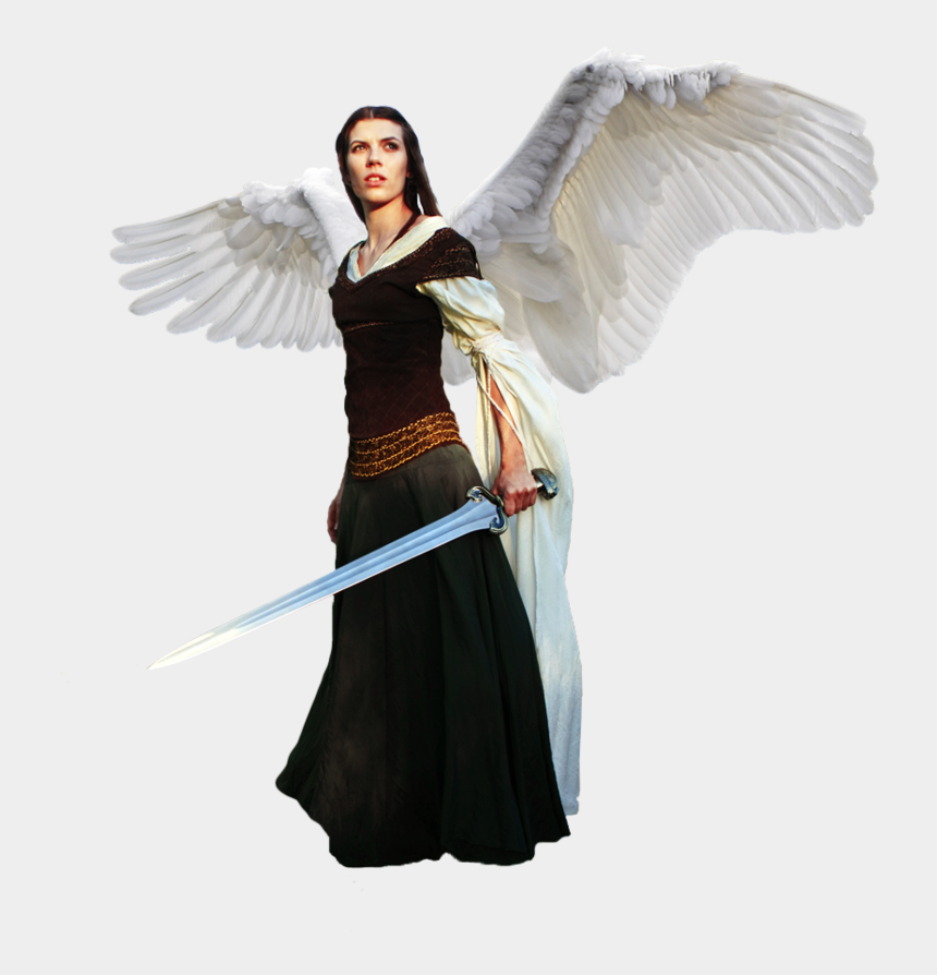 warrior angel clipart, Cartoons - Angel With Sword Png