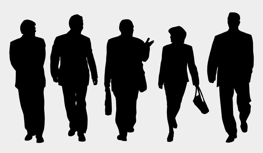 group of people walking clipart, Cartoons - People Walking Silhouette Png