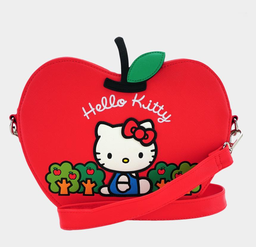 cut apple clipart, Cartoons - Loungefly X Hello Kitty Apple Die Cut Crossbody Bag - Loungefly Sanrio Hello Kitty Apple Bag