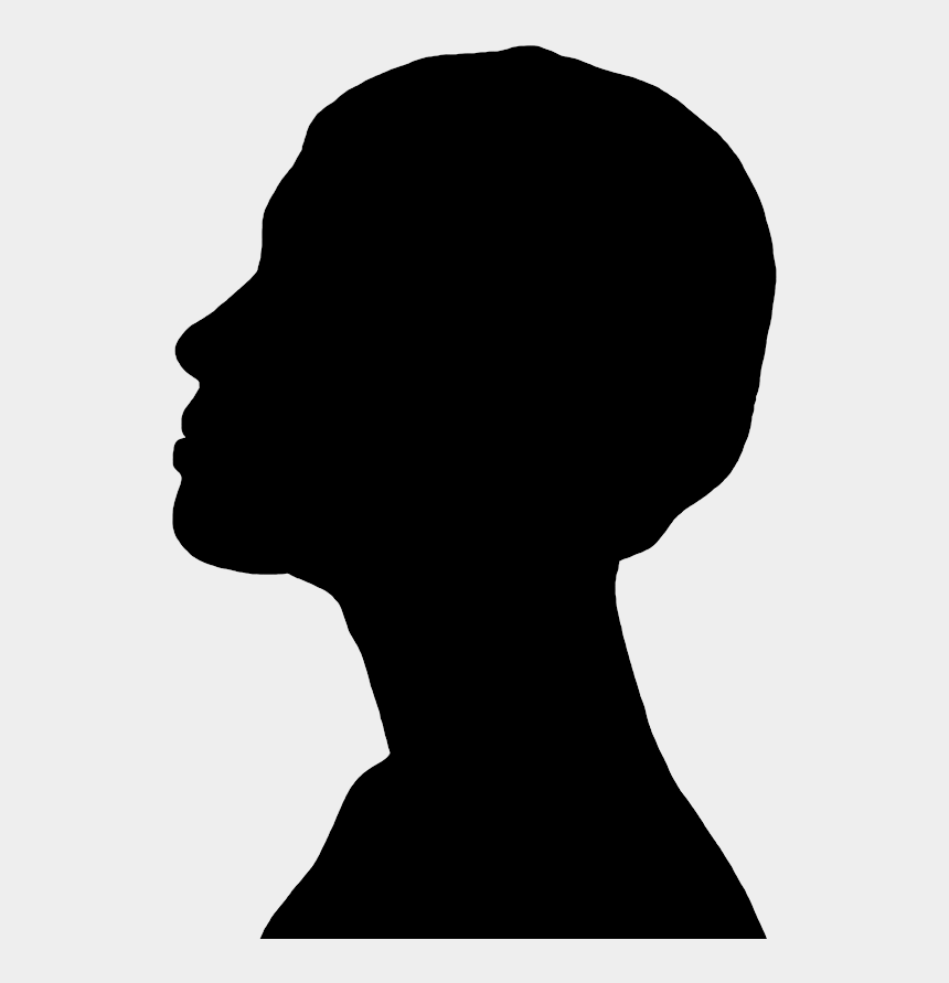 head profile clipart, Cartoons - Face Silhouettes Of Men, Women And Children - Face Profile Silhouette Transparent Background