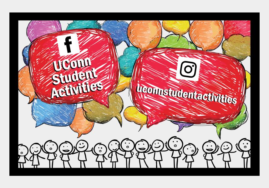 student group work clipart, Cartoons - Student Activities Social Media - Illustration