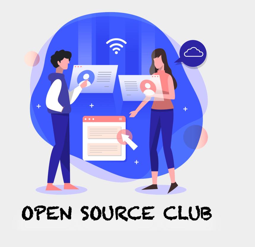 student group work clipart, Cartoons - Open Source Club - Digital Marketing