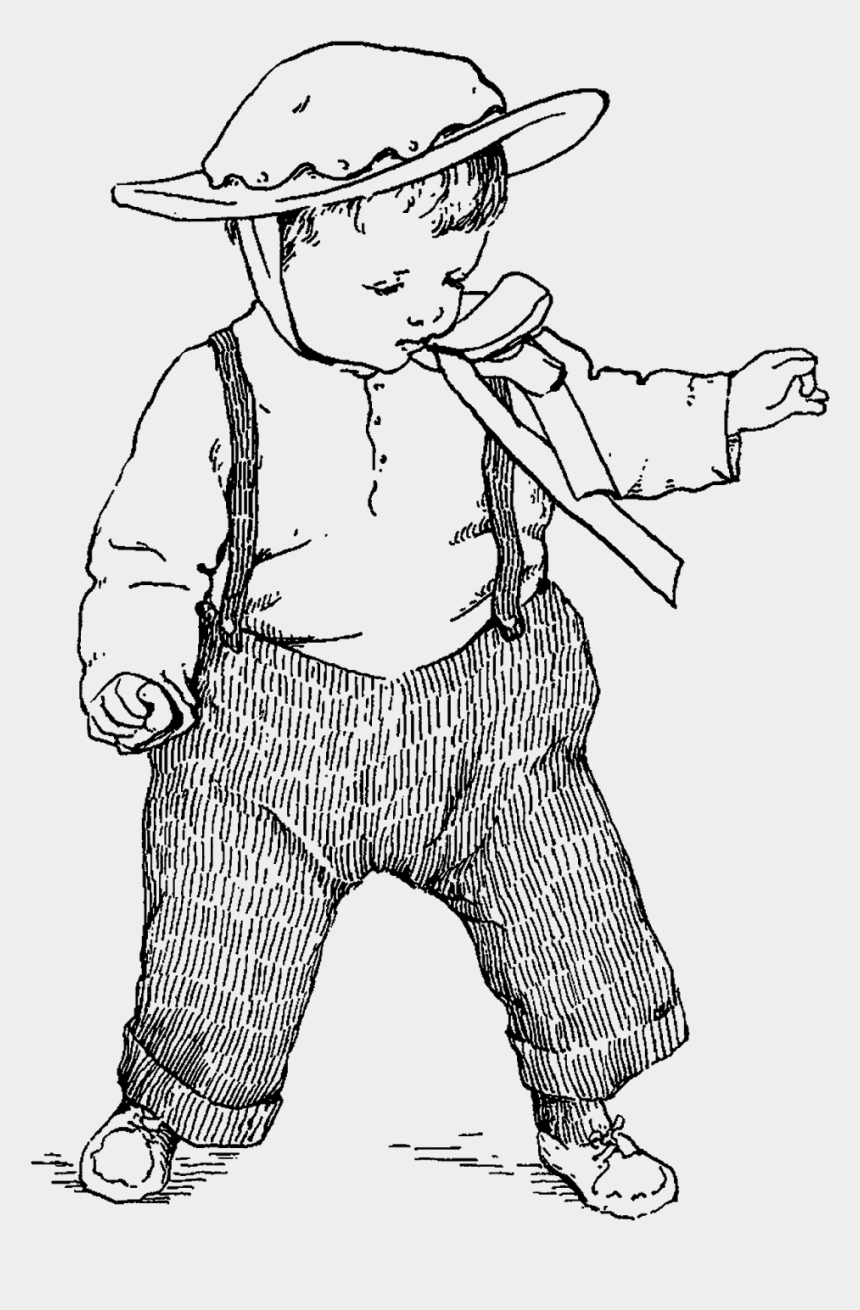 children walking in line clipart, Cartoons - The First Child Illustration Is Of A Baby Taking His - Line Art