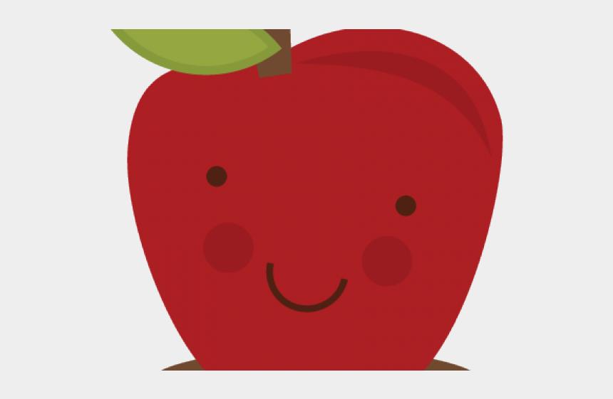 apple cut in half clipart, Cartoons - Cut Apple Cliparts - Smiley