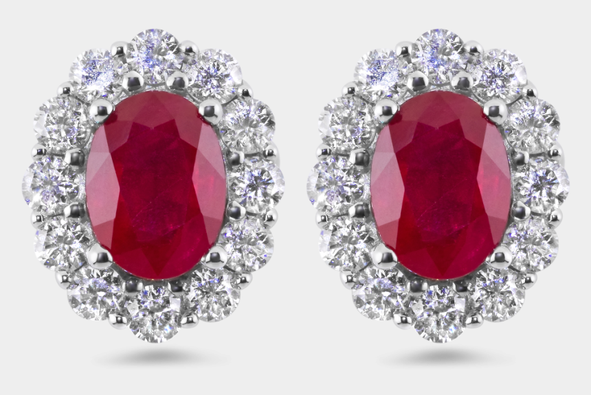 Red Diamond Earrings Diamond Red Earrings Cliparts