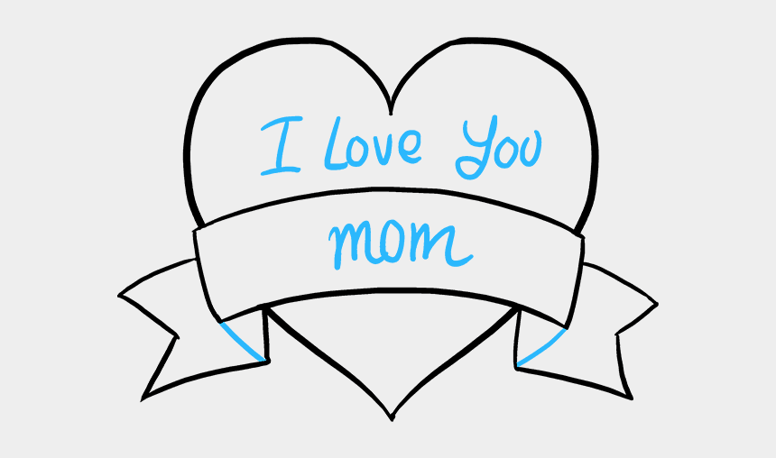 mother's day clipart black and white, Cartoons - How To Draw A Mother's Day Heart - Easy Mothers Day Drawings