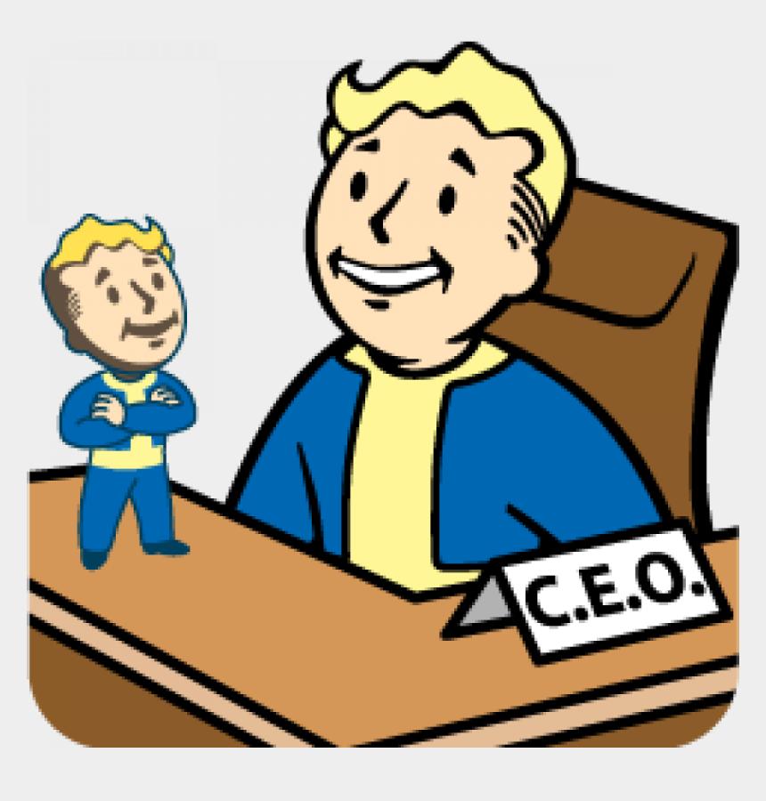 vault boy clipart, Cartoons - Vault-tec Ceo - Fallout Vault Boy Head