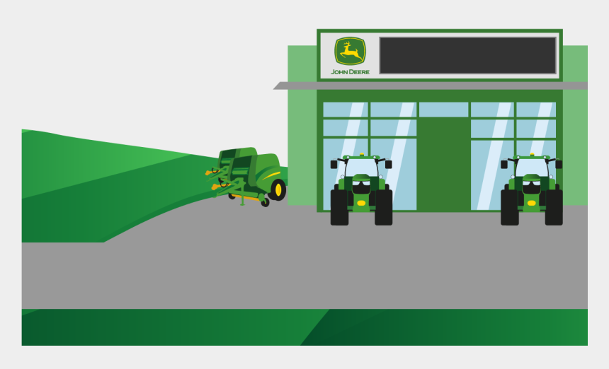 john deere combine clipart, Cartoons - Combine - Shop - Cartoon
