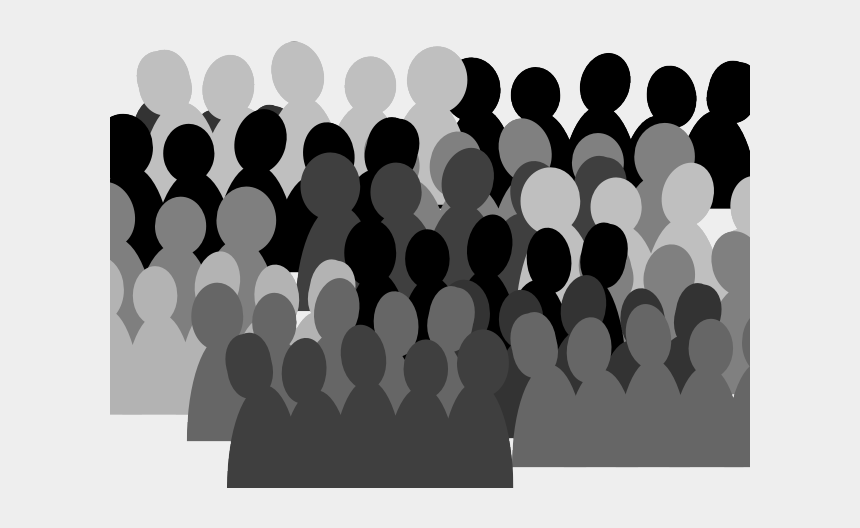 human shadow clipart, Cartoons - Concert Clipart Shadow - Animated Crowd Of People