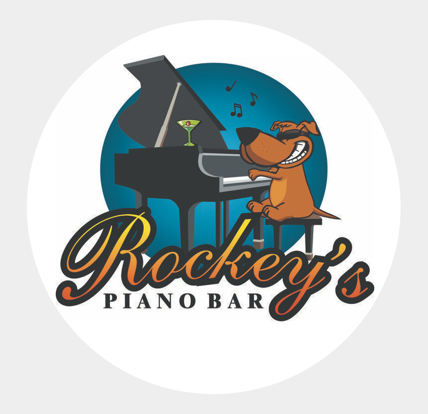 dueling pianos clipart, Cartoons - Rockey's Piano Bar Logo - Rockeys Piano Bar Webster Tx