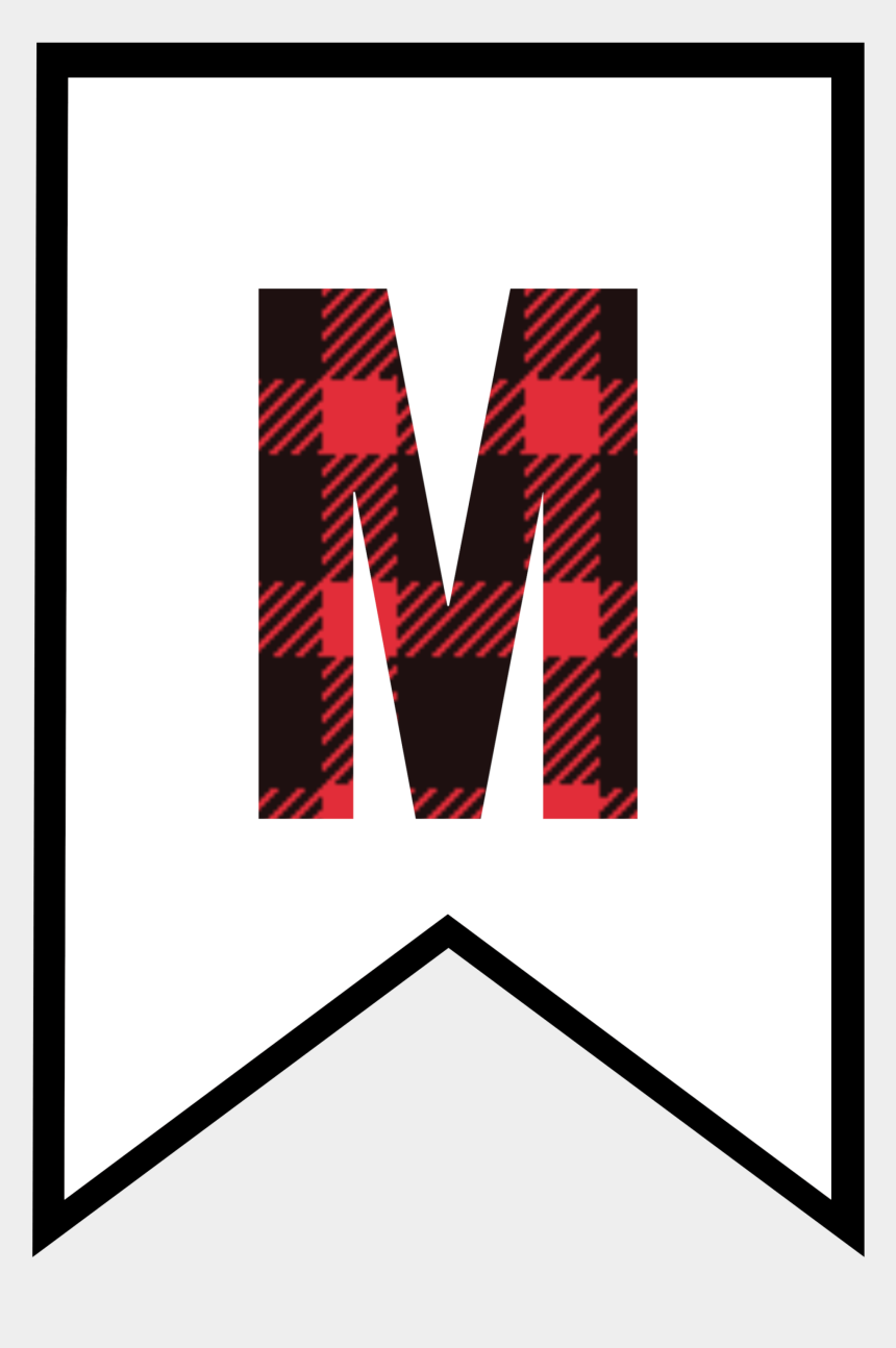 free clipart letter m, Cartoons - Click The Following Links To Print The Buffalo Plaid - Free Printable Buffalo Plaid Letters