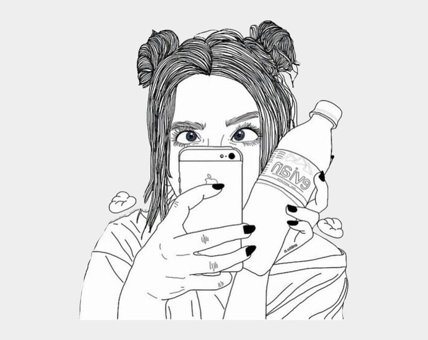 silly girl clipart, Cartoons - #art #tumblrgirl #selfie #silly #tumblr #girl #freetoedit - Cute Girl Tumblr Drawings