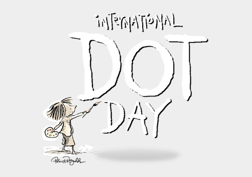 celebrate clipart black and white, Cartoons - Speakaboos Story App International Dot Day The Dot - Make Your Mark Dot