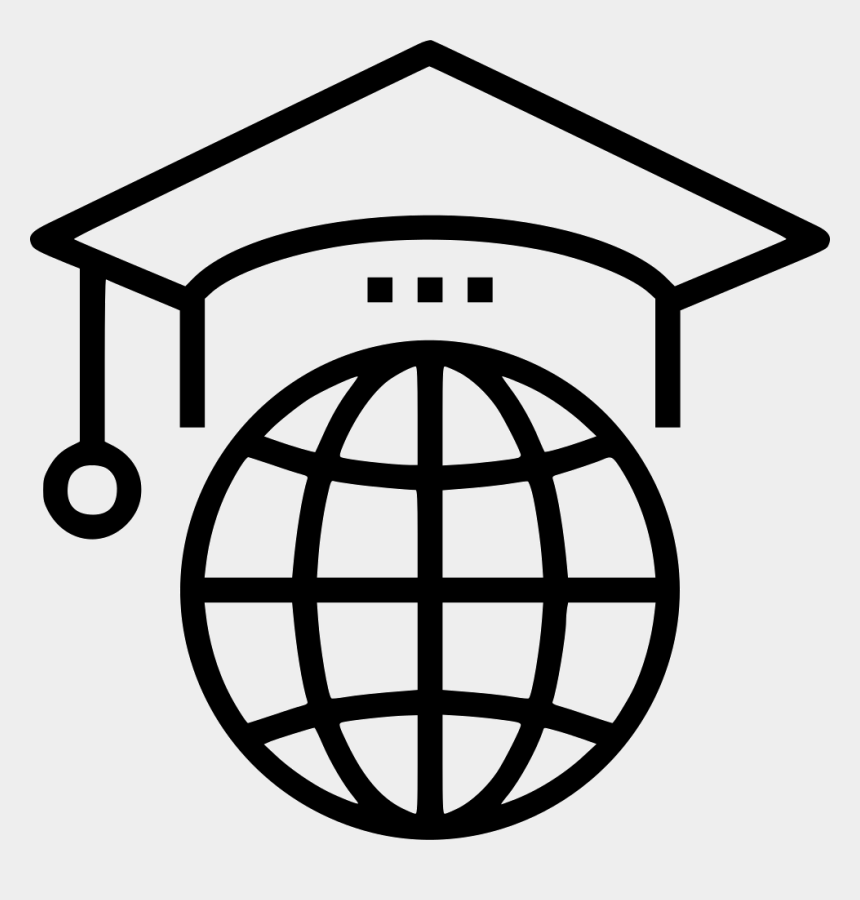 geography clipart black and white, Cartoons - Geography Clipart Study Abroad - High Speed Internet Icon
