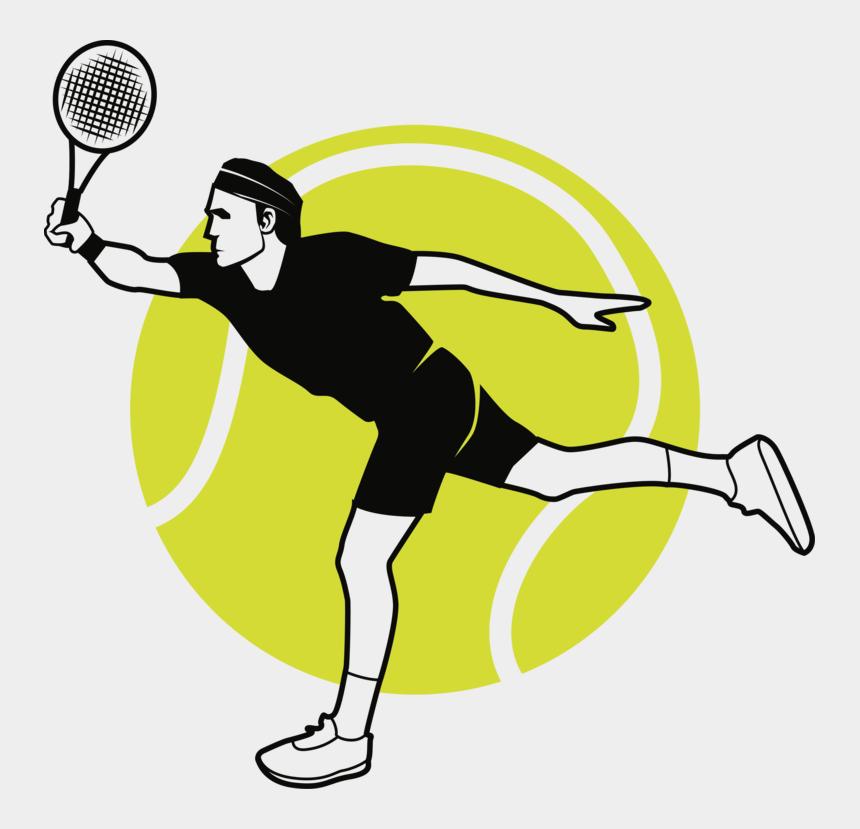 free clipart tennis player, Cartoons - Tennis Balls Sports Racket