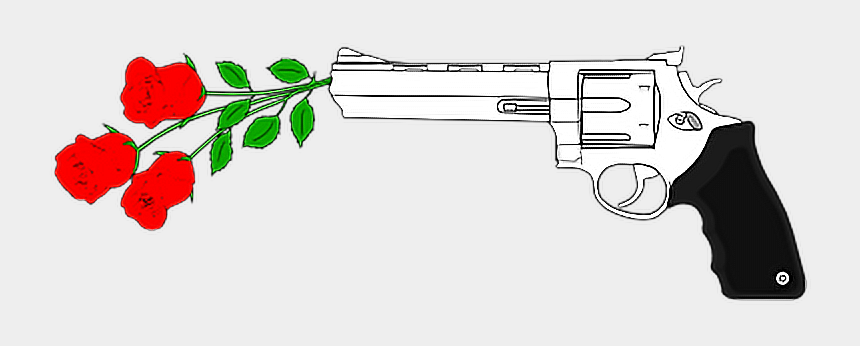 guns and roses clipart, Cartoons - #roses #flowers #guns #stickers - Gun With Flowers Png