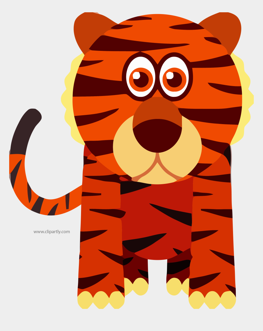 orange animal clipart, Cartoons - Orange Red Color Animal Clipart Tigger Download Picture - Tiger Clip Art