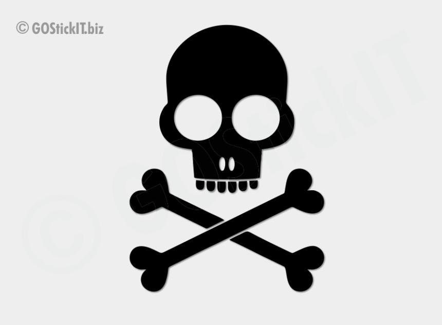cute skull clipart black and white, Cartoons - Skull Cartoon Design Series Vinyl Decal - Skull And Crossbones
