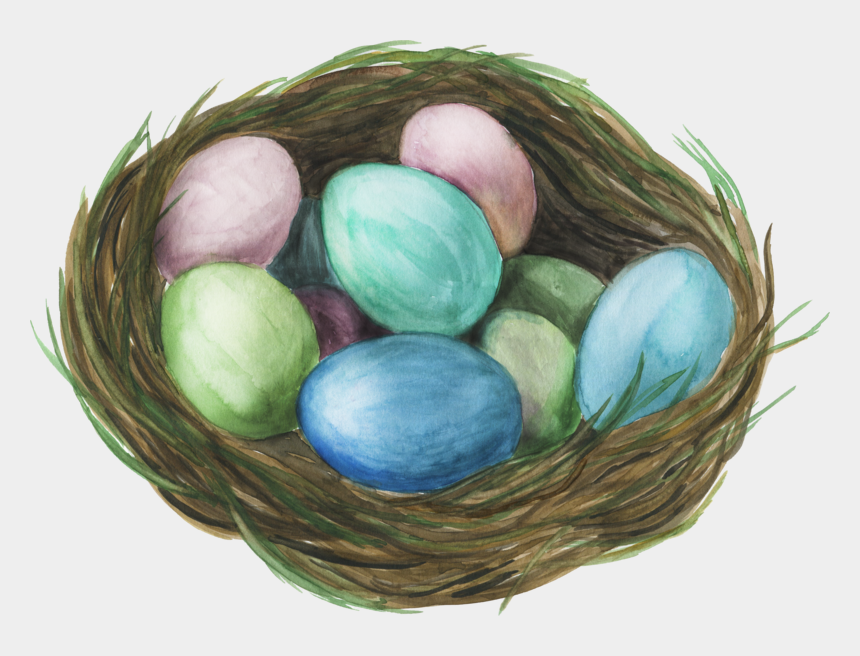 nest with eggs clipart, Cartoons - Nest Png, Download Png Image With Transparent Background, - Birds Nest Watercolor Png