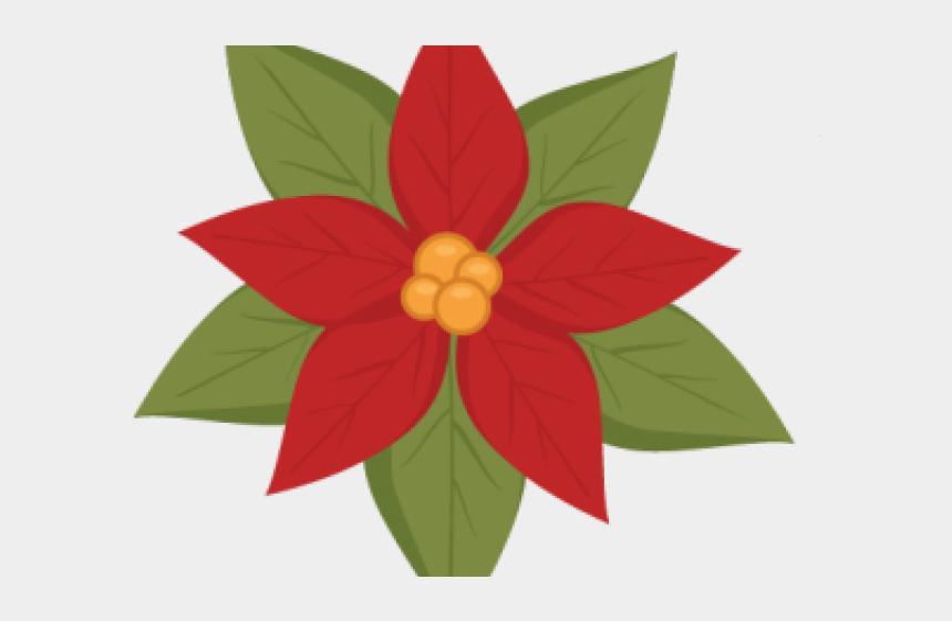 poinsettia flower clipart, Cartoons - Poinsettia Clipart Cute - Poinsettia Svg Free