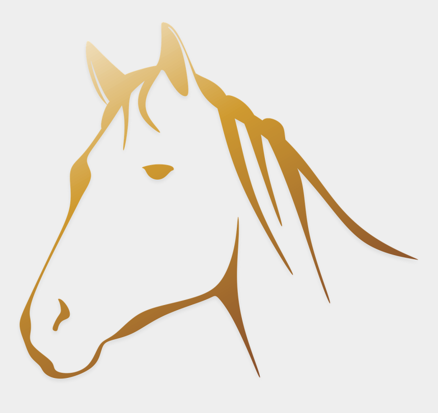 pferdekopf clipart, Cartoons - Line Art Horse Head