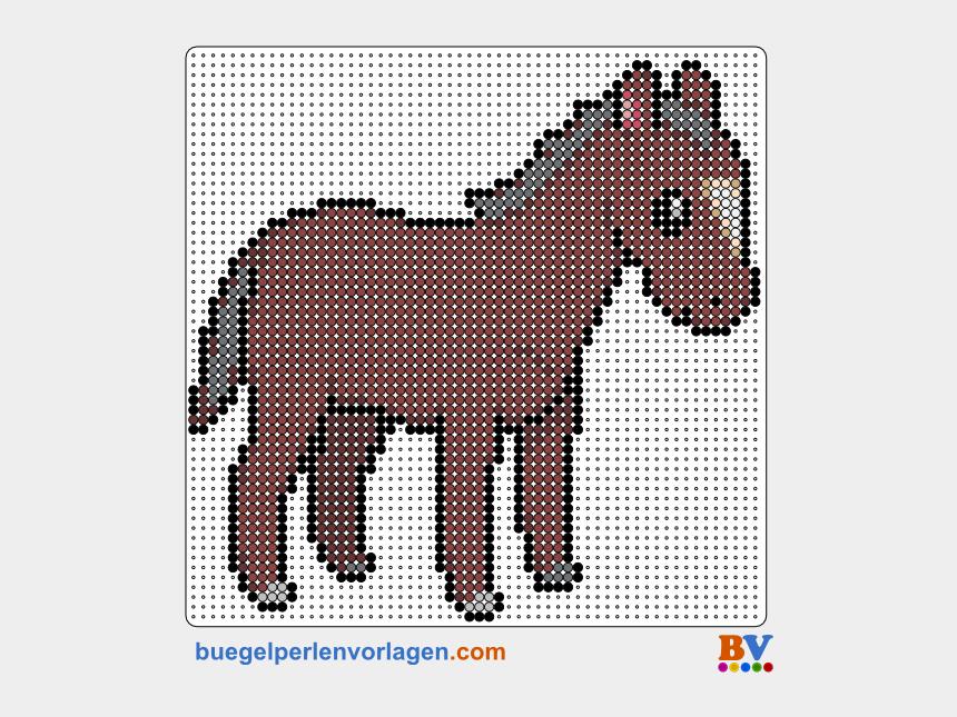 pferdekopf clipart, Cartoons - Bügelperlen Vorlage Pferd Mehr - Hama Beads Pattern Horse
