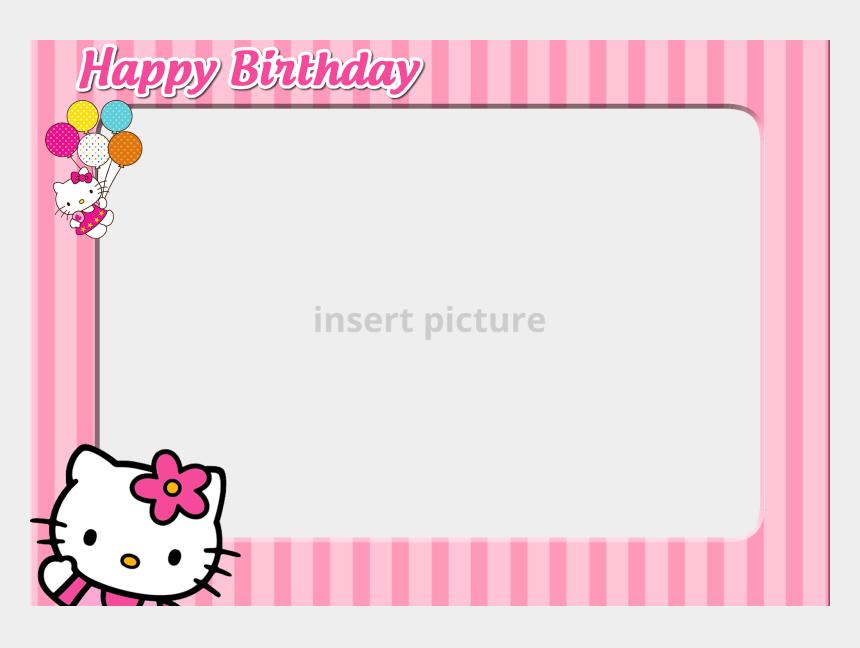 hello kitty clipart birthday, Cartoons - Hello Kitty Photo Frame Photo - Hello Kitty Birthday Picture Frame