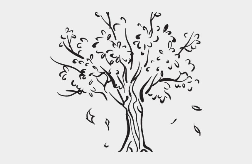 fallen tree clipart, Cartoons - Drawn Leaf Fallen Leaf - Tree Leaves Falling Drawing