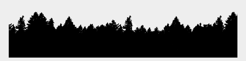 forest trees clipart black and white, Cartoons - Forest Trees Png Black And White - White Silhouette Trees Png