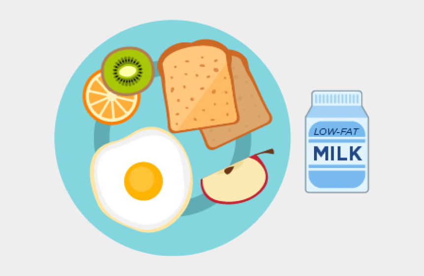 healthy clipart, Cartoons - Healthy Breakfast Plate Clipart