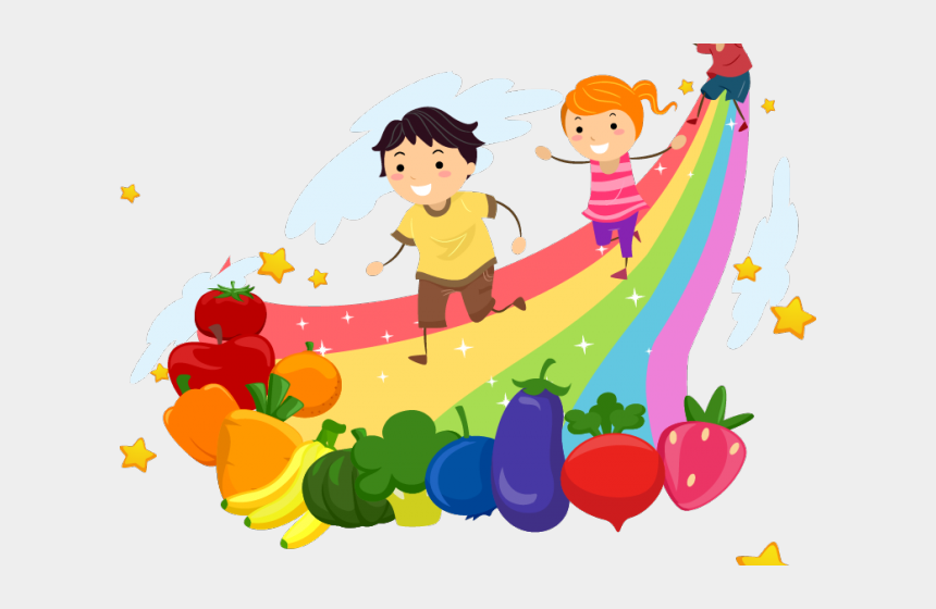 Healthy Food Clipart Rainbow Clip Art Of Rainbow With Children Cliparts Cartoons Jing Fm