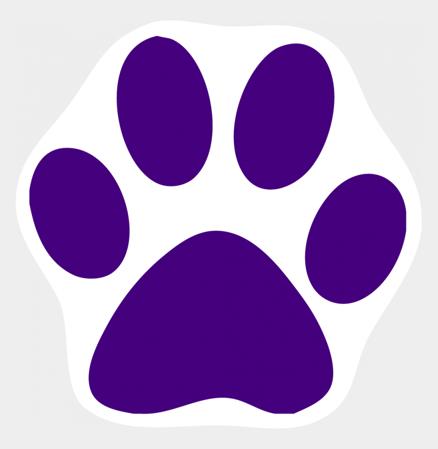 husky clipart, Cartoons - Husky Hd Clipart - Purple Cat Paw Print