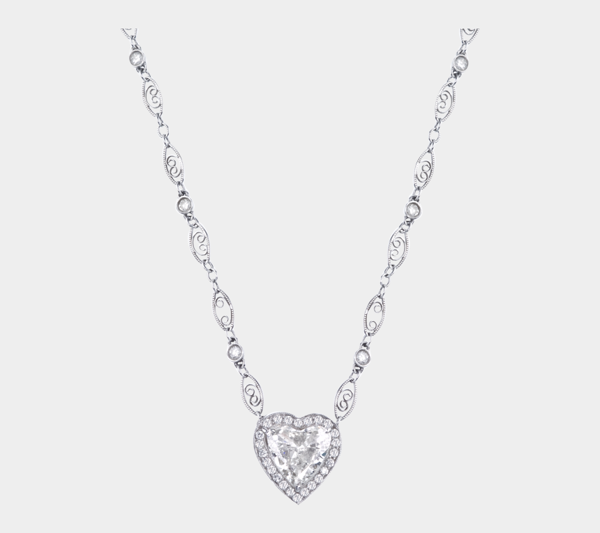 necklace clipart, Cartoons - Clipart Freeuse Library Heart Shape Pendant With Diamond - Necklace