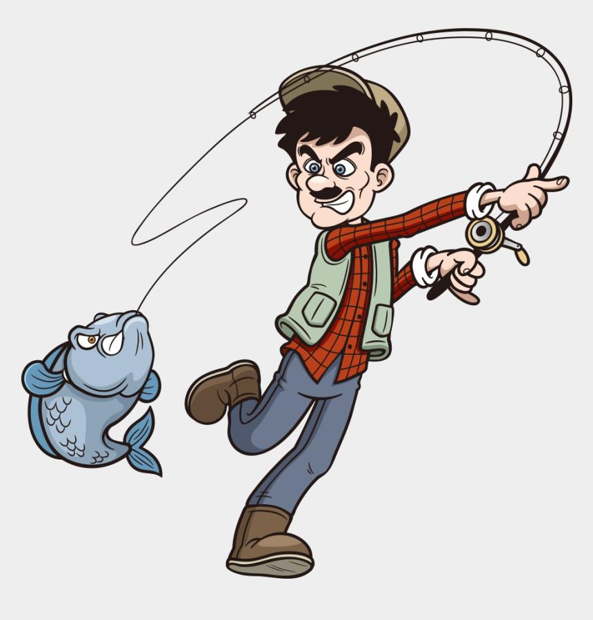 fisherman clipart, Cartoons - Fishing Rod Cartoon Clip Art - Fishing Rod Clip Art