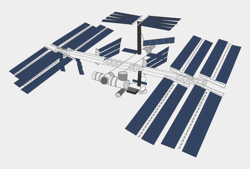 space shuttle clipart, Cartoons - Space - International Space Station Cartoon
