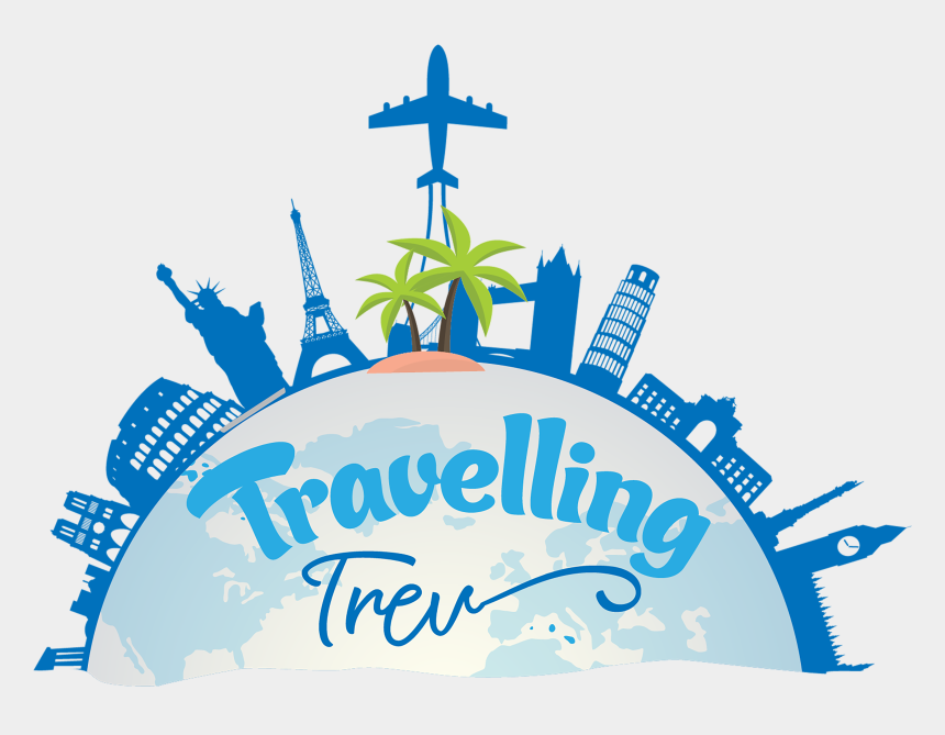 traveling clipart, Cartoons - Travelling Trev Varadero Cuba - World Travel Symbols Png