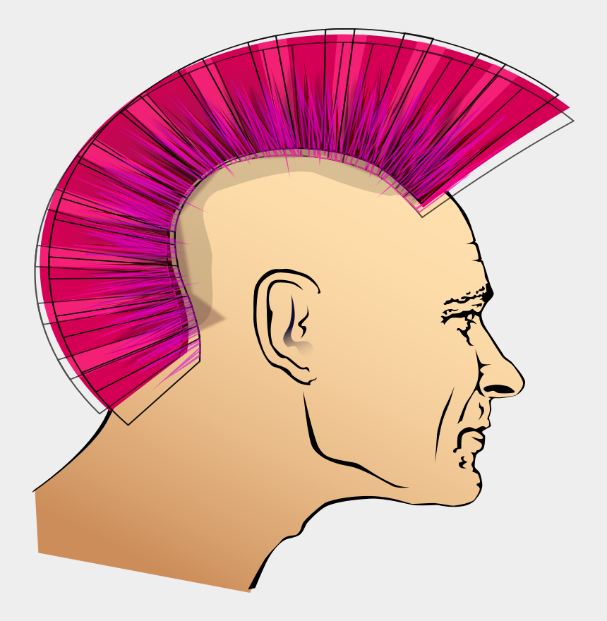 uncle clipart, Cartoons - This Png File Is About Uncle , Head , Male , Pink , - Punk Rock Cliparts