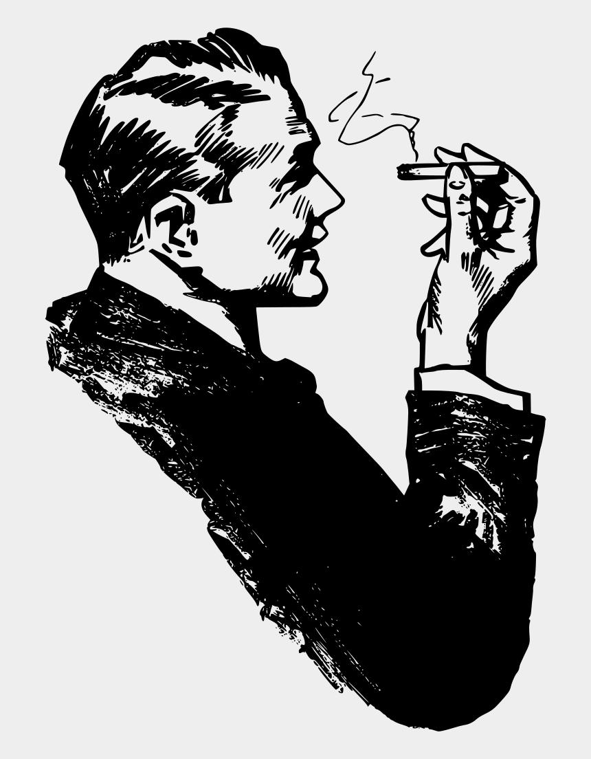 cigarette clipart, Cartoons - Cigarette Clipart Man Smoking - Smoking Man Clip Art