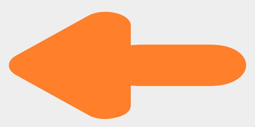 orange color clipart, Cartoons - Left Side Orange Color Arrow - Back Icon Orange Png