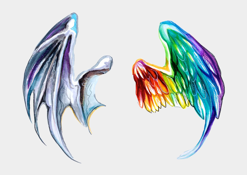 dragon wings clipart, Cartoons - #dragon #dragons #dragonwings #dragonwing #angel #anegls - Devil Wings Tattoo Watercolor