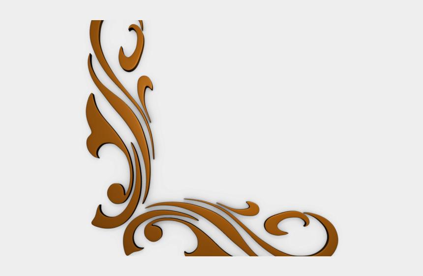 fancy scroll clipart, Cartoons - Scroll Clipart Artistic - Corner Design Png Hd