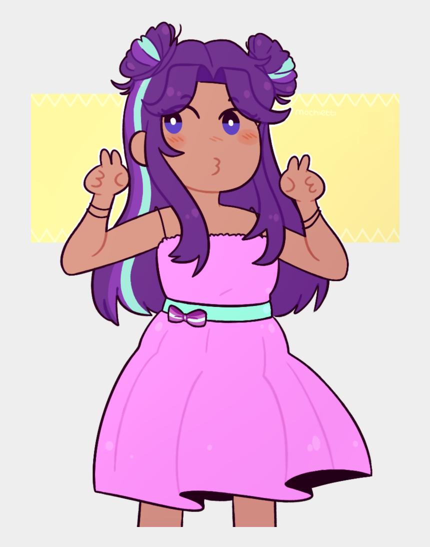 girl with black hair clipart, Cartoons - Dark Hair Clipart Human Hair - Anime Girl With Hair Buns