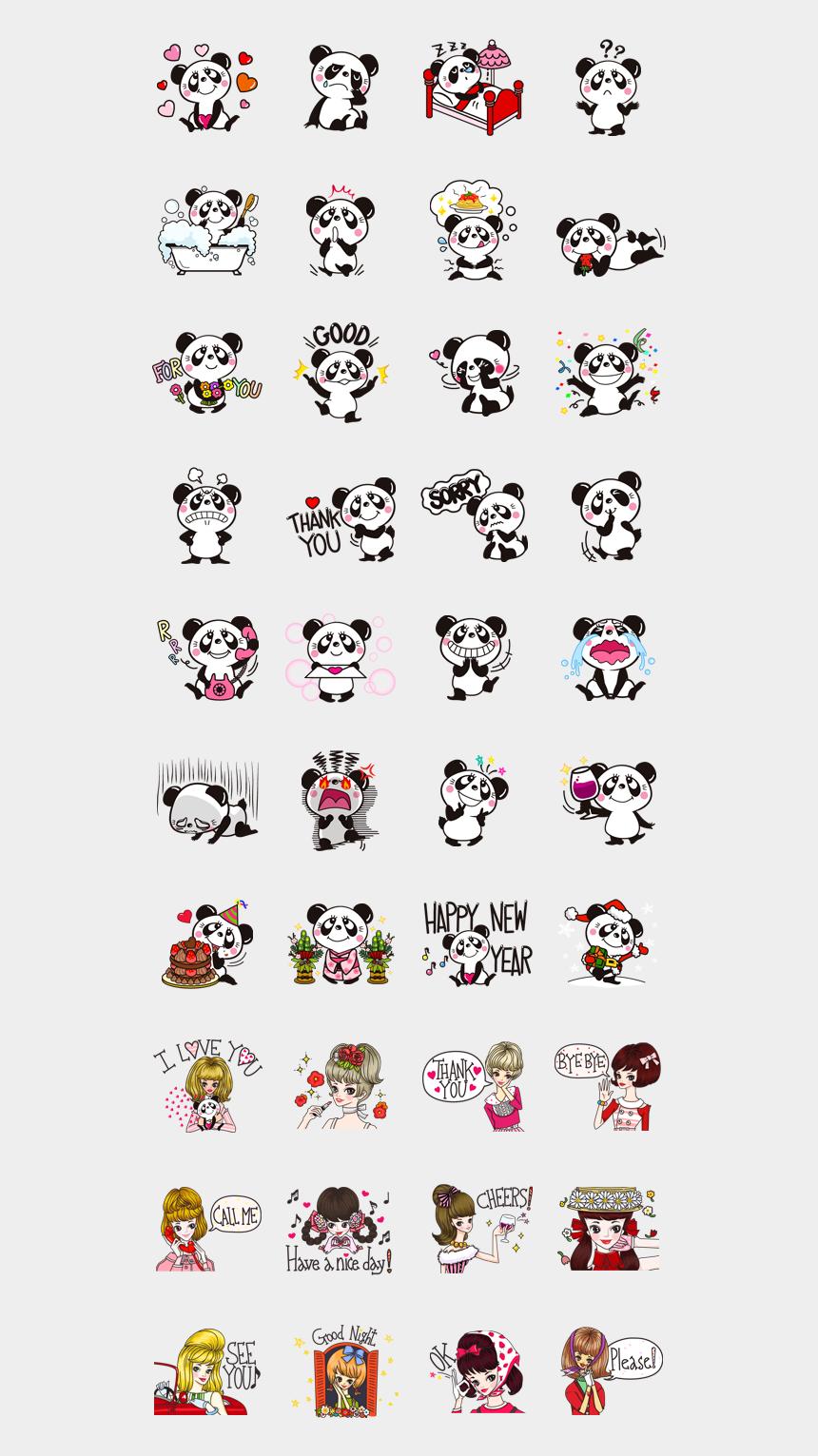 lippen clipart, Cartoons - Panditas Cute Panda Emoji, Chibi Panda, Kawaii Chibi, - Panda Stickers Viber