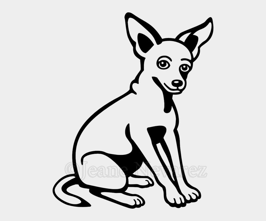 chihuahua dog clipart, Cartoons - Dog Clipart Black And White Chihuahua - Clip Art