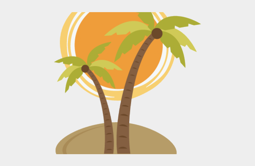 palm tree and sun clipart, Cartoons - Palm Tree And Sun Transparent