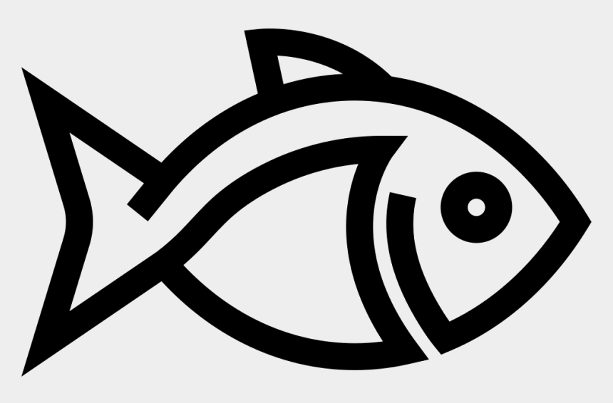 fish outline clipart black and white, Cartoons - Art Svg Fish Outline - Fish Png Outline