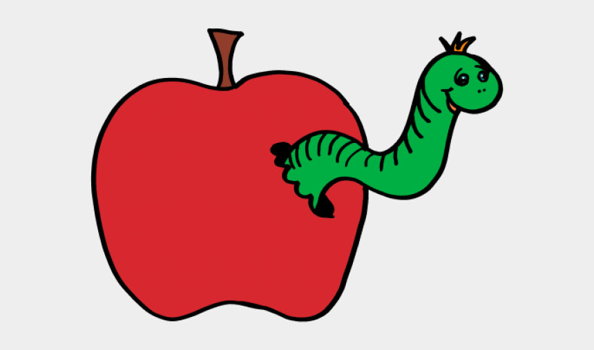 apple and worm clipart, Cartoons - Worm Clipart Apple Clip Art - Apple And Worm Clipart