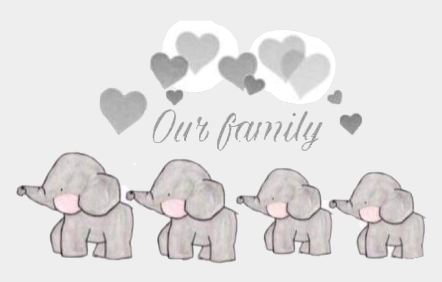 our family clipart, Cartoons - #elephant #family #ourfamily #elephants #grey #love#freetoedit - Our Family Elephant App