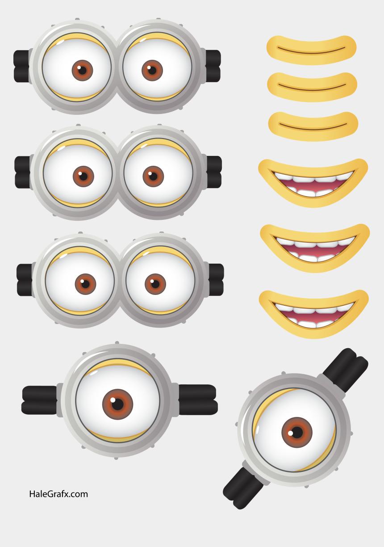 cliparts gratuits anniversaire, Cartoons - Visage Minion Jaune Au Format Png - Olho Dos Minions Em Png